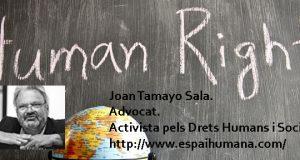 Joan Tamayo Sala. Advocat. Activista pels Drets Humans i Socials.
