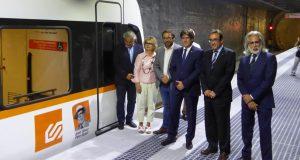 Font: La Vanguardia. President Puigdemont inaugura les dues noves estacions del Metro del Vallès.