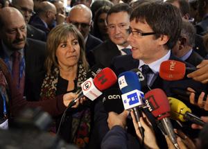El president atenent els mitjans de comunicació. Autor: Jordi Bedmar