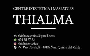 (c) THIALMA. Estètica i Massatges
