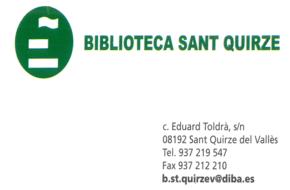 (b)Biblioteca Sant Quirze